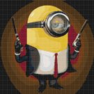 "Minion Hitman - 13.86"" x 11.07"" - Cross Stitch Pattern Pdf E829"