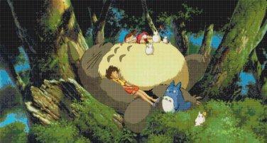 "My Neighbor Totoro of Hayao Miyazaki - 31.49"" x 16.93"" - Cross Stitch Pattern Pdf C830"