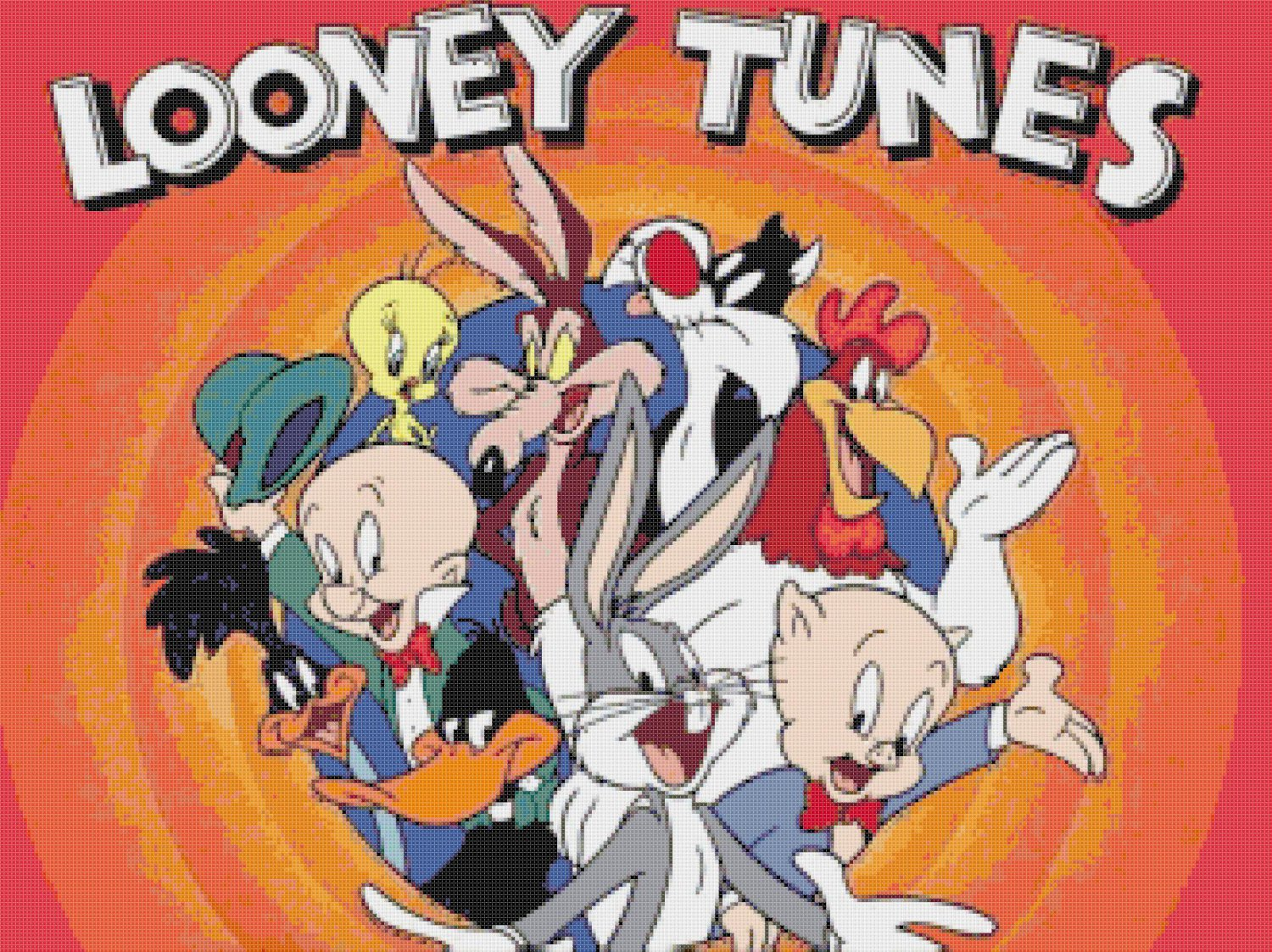 "Looney tunes - 23.62"" x 17.71"" - Cross Stitch Pattern Pdf E833"