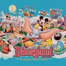 "Disneyland - 35.43"" x 23.43"" - Cross Stitch Pattern Pdf C844"
