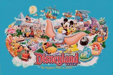 "Disneyland - 35.43"" x 23.43"" - Cross Stitch Pattern Pdf C844"