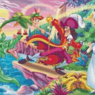 "Peter Pan - 23.64"" x 16.93"" - Cross Stitch Pattern Pdf E852"