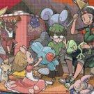 """Pokemon ORAS Secret Base - 25.57"""" x 14.43"""" - Cross Stitch Pattern Pdf C855"""