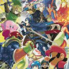 "Super Smash Bros Lucina and Robin - 17.21"" x 25.36"" - Cross Stitch Pattern Pdf E857"