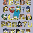 "Alphabet simpson characters - 14.93"" x 17.79"" - Cross Stitch Pattern Pdf E596"