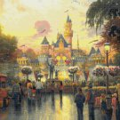 "Disneyland - inspirated to Kinkade - 35.43"" x 23.43"" - Cross Stitch Pattern Pdf E890"