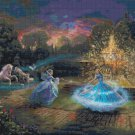 "Wishes Granted Cinderella - inspirated to Kinkade - 35.43"" x 26.79"" - Cross Stitch Pattern Pdf E893"