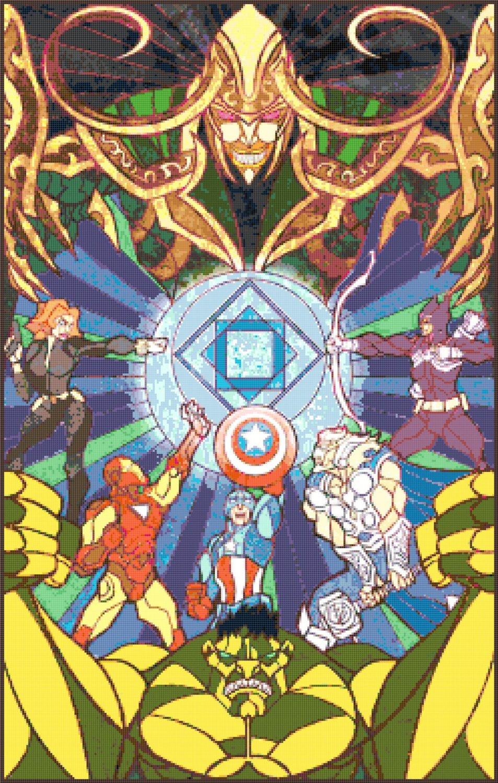 """Lord of rings - 17.71"""" x 27.86"""" - Cross Stitch Pattern Pdf E1140"""