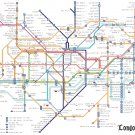 "Tube map of london with texts of station - 35.21"" x 23.29"" - Cross Stitch Pattern Pdf C1178"