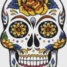 "Sugar Skull  - 9.86"" x 14.21"" - Cross Stitch Pattern Pdf C684"