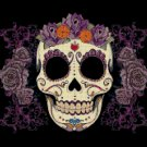 "Sugar Skull  - 13.79"" x 11.93"" - Cross Stitch Pattern Pdf E776"