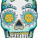 "Sugar Skull  - 7.07"" x 11.21"" - Cross Stitch Pattern Pdf file chart C638"