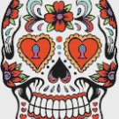 "Sugar Skull  - 9.86"" x 14.07"" - Cross Stitch Pattern Pdf file chart E685"