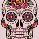 "Sugar Skull  - 9.86"" x 14.00"" - Cross Stitch Pattern Pdf file chart C886"