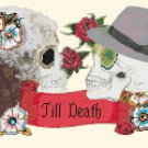 "Sugar Skull Couples  - 13.79"" x 7.93"" - Cross Stitch Pattern Pdf file chart C1124"