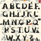 "happy halloween ABC alphabet - 32.93 "" x 34.93 "" - Cross Stitch Pattern Pdf file chart E1232"