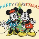 "minni and mickey christmas 2016 - 9.07"" x 7.50"" - Cross Stitch Pattern Pdf E1249"