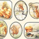 "six scenes with squirrel nutkin by potter - 25.57"" x 19.71"" - Cross Stitch Pattern Pdf C1302"