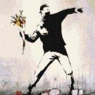 "Banksy - street art - 15.00"" x 14.79"" - Cross Stitch Pattern Pdf C1306"