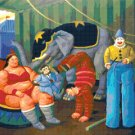 "botero circus - 19.71"" x 17.14"" - Cross Stitch Pattern Pdf E1329"