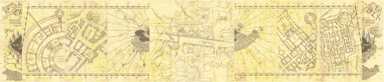 "big complete marauder's map Harry Potter - 95.64"" x 20.50"" - Cross Stitch Pattern Pdf E1333"