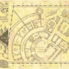 "left portion marauder's map Harry Potter - 26.64""x 20.50"" - Cross Stitch Pattern Pdf C1334"