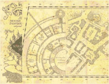 "left portion marauder's map Harry Potter - 26.64""x 20.50"" - Cross Stitch Pattern Pdf C1334"