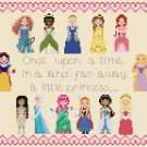 "Disney Princess Pixel People - 11.00"" x 8.43"" - Cross Stitch Pattern Pdf C1113"