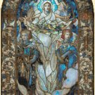 "Arlington church Cross Stitch Pattern stained cross stitch - 15.07"" x 25.21"" - E1353"
