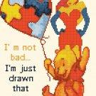 """Winnie the Pooh Cross Stitch Pattern Pdf files - 7.50"""" x 9.64"""" - C1354"""