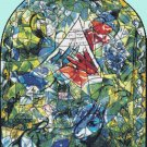 "Chagal Issachar Cross Stitch Pattern stained cross stitch - 18.36"" x 23.00""- E1360"