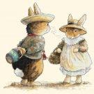 """two rabbits Cross Stitch Pattern Cross Stitch Pattern beatrix potter - 17.79"""" x 11.64"""" - C1361"""