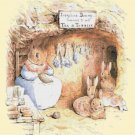 "rabbit Cross Stitch Pattern Cross Stitch Pattern beatrix potter - 21.64"" x 25.00"" - C1366"