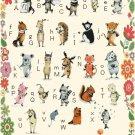 """ABC Animals Cross Stitch Pattern animal alphabet - 23.64"""" x 39.36"""" C1372"""