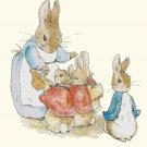 "rabbit family Cross Stitch Pattern Cross Stitch Pattern beatrix potter - 15.71"" x 17.14"" - C1373"