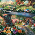 "Alice in Wonderland cross inspirated to Kinkade  Counted Cross Stitch - 35.43"" x 23.57"" - C1599"