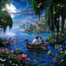"little mermaid cross stitch inspirated to Kinkade Counted Cross Stitch - 35.43"" x 23.86"" - E1602"