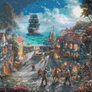 "pirates cross stitch inspirated to Kinkade Counted Cross Stitch - 35.43"" x 23.57"" - E1603"