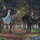 "romance awakens cross stitch inspirated to Kinkade Counted Cross Stitch - 35.43"" x 26.57"" - C1604"