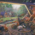 Snow White cross stitch inspirated to Kinkade Counted Cross Stitch 496 * 333 stitches E1605