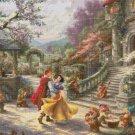 "Snow White cross stitch pattern Kinkade Cross Stitch - 35.43"" x 23.79"" - E1616"