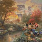 "Mickey & Minnie cross stitch pattern Kinkade Cross Stitch - 35.43"" x 26.57"" - E1618"