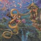 "Tangled Up in Love cross stitch pattern Kinkade Cross Stitch - 35.43"" x 23.64"" - E1619"