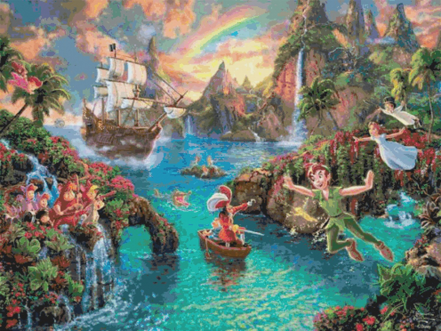 "Peter pan cross stitch pattern Kinkade Cross Stitch - 35.43"" x 26.57"" - E1620"