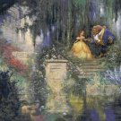"Beauty and the beast cross stitch pattern Kinkade Cross Stitch - 35.43"" x 26.57"" - E1621"