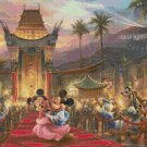 "mickey and minnie cross stitch pattern Kinkade Cross Stitch - 35.43"" x 26.57"" - C1622"