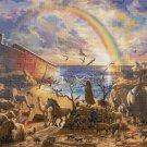 """Noa's ark cross stitch pattern Kinkade Cross Stitch pattern - 35.43"""" x 23.64"""" - E1623"""