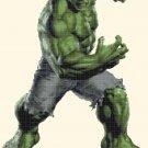 counted cross stitch pattern Hulk by Marvel pdf chart 167x234 stitches E1294