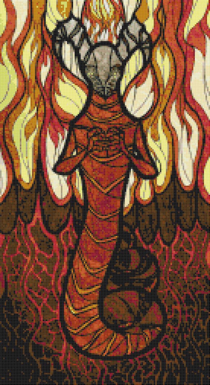 "sages of hyrule - Dakkon -  9.86"" x 18.07"" - Cross Stitch Pattern Pdf E1626"