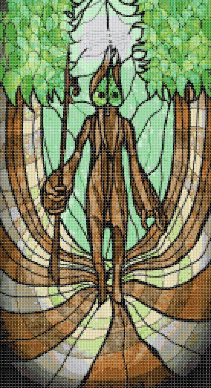 "sages of hyrule - Makar -  9.86"" x 18.07"" - Cross Stitch Pattern Pdf E1628"